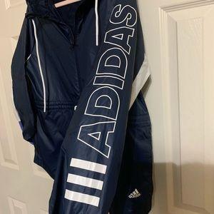 adidas Jackets & Coats - Adidas Zip Up Hooded Windbreaker